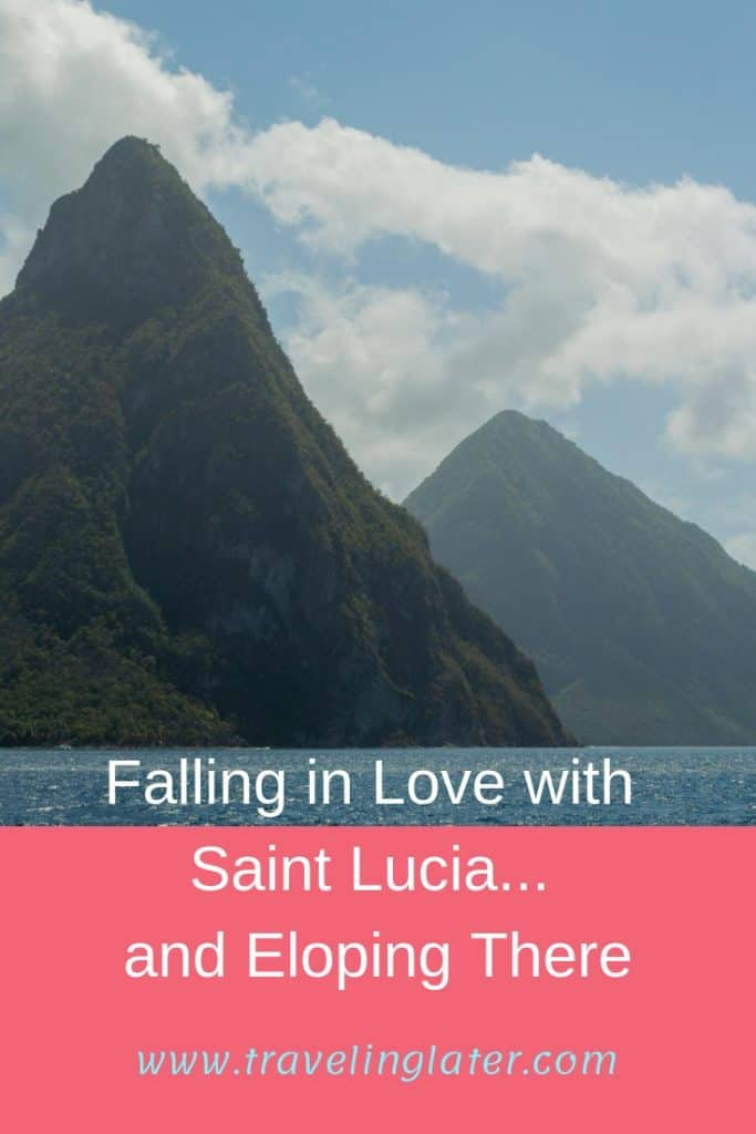 The Pitons on Saint Lucia