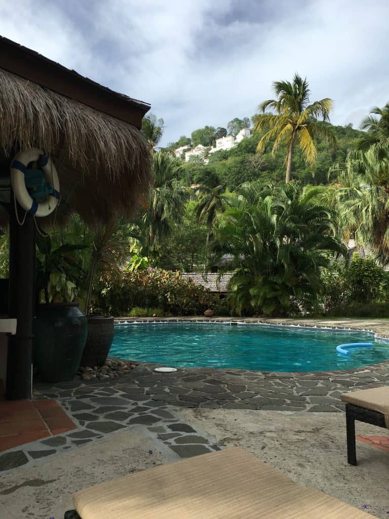 private pool at eastwinds resort in saint lucia