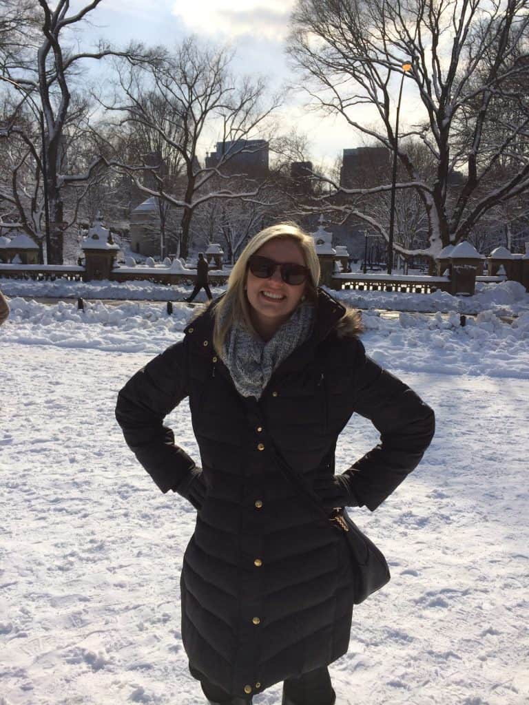Hilary in Central Park, NYC