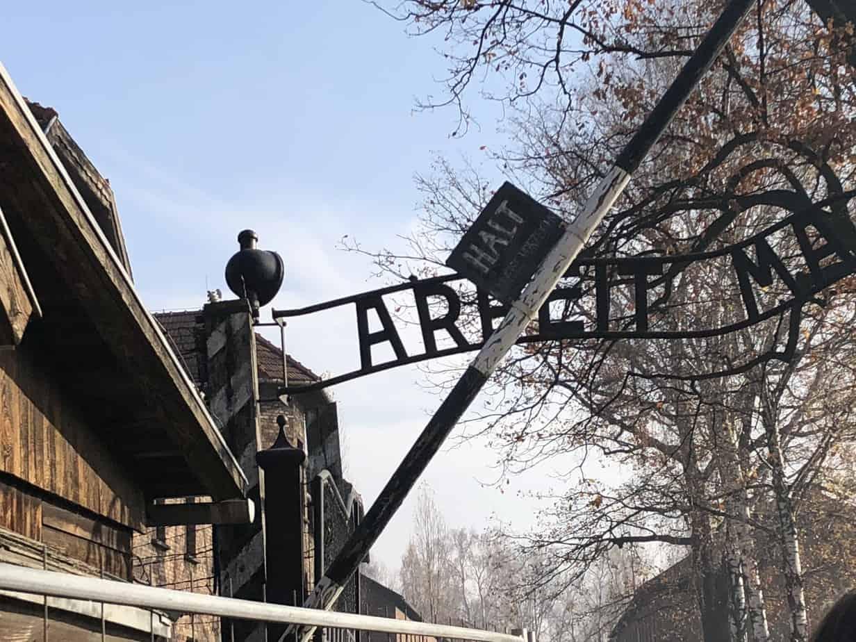 Entrance-gate-to-Auschwitz