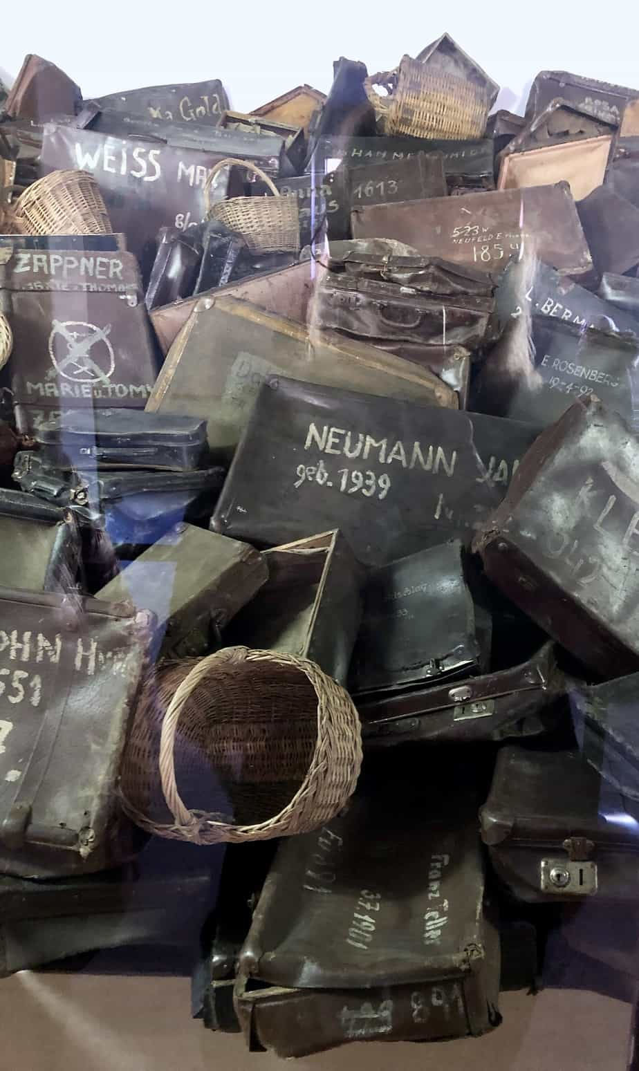 Confiscated-luggage-at-Auschwitz