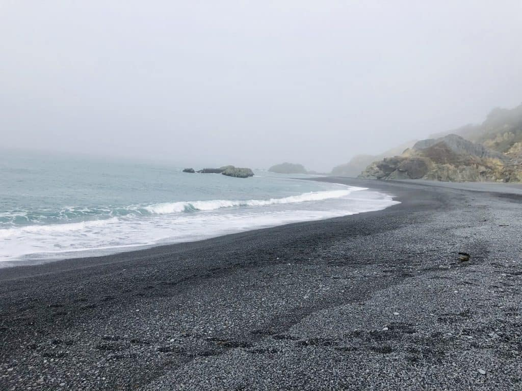 Shelter Cove Black Sand Beach