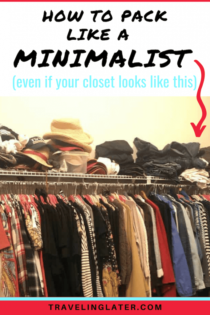 Minimalist packing guide